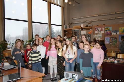 Новогодний праздник-конкурс в изостудии Воробьёвы горы